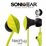 Wholesale Sonicgear Neoplug Leaf Earphones With Built In Mic Green