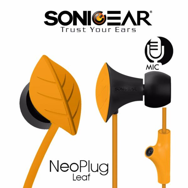SonicGear NeoPlug Leaf Series Earphones with Built-In Mic Singapore