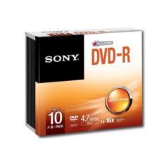 Sony DVD-R 10PCS With Slim Case