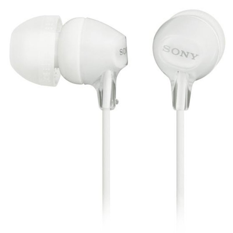 SONY MDR-EX15LP/W Earphones In-Ear 9mm 100dB 16Ohms 8-22000Hz 1.2M 3g Y-Cord White Singapore