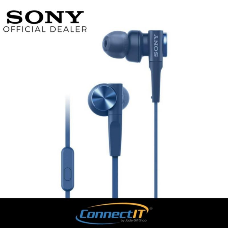 Sony MDR-XB55AP Extra Bass In-Ear Earphones For Smartphones (Blue) Singapore