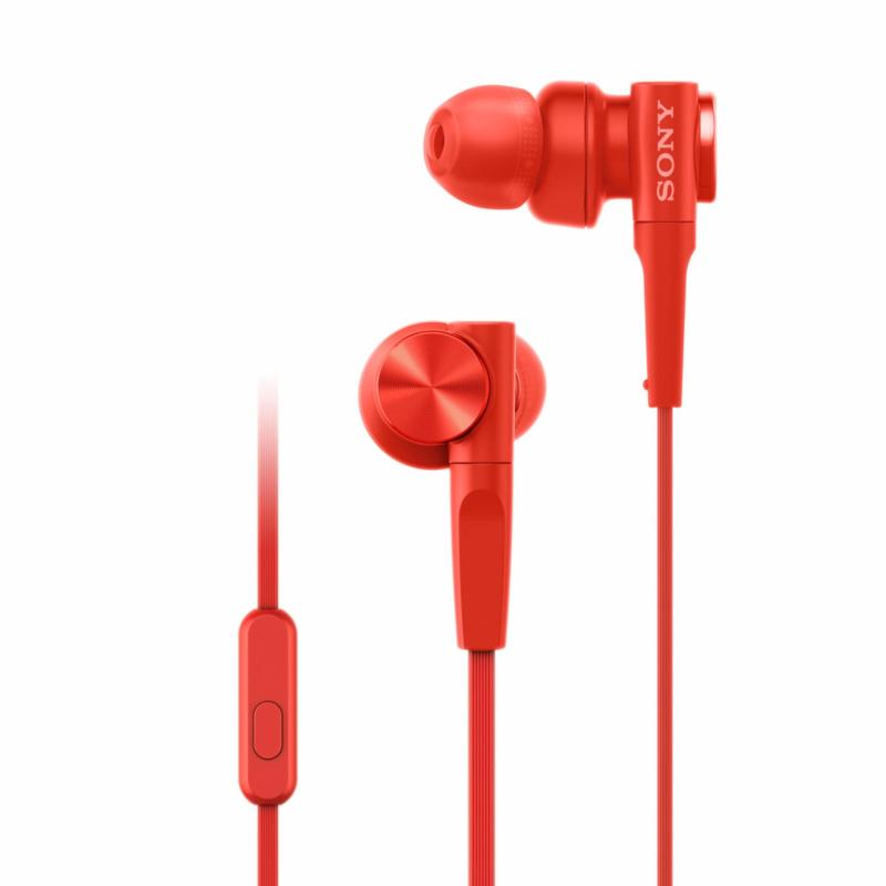 Sony MDR-XB55AP Extra Bass In-earphones - Red Singapore
