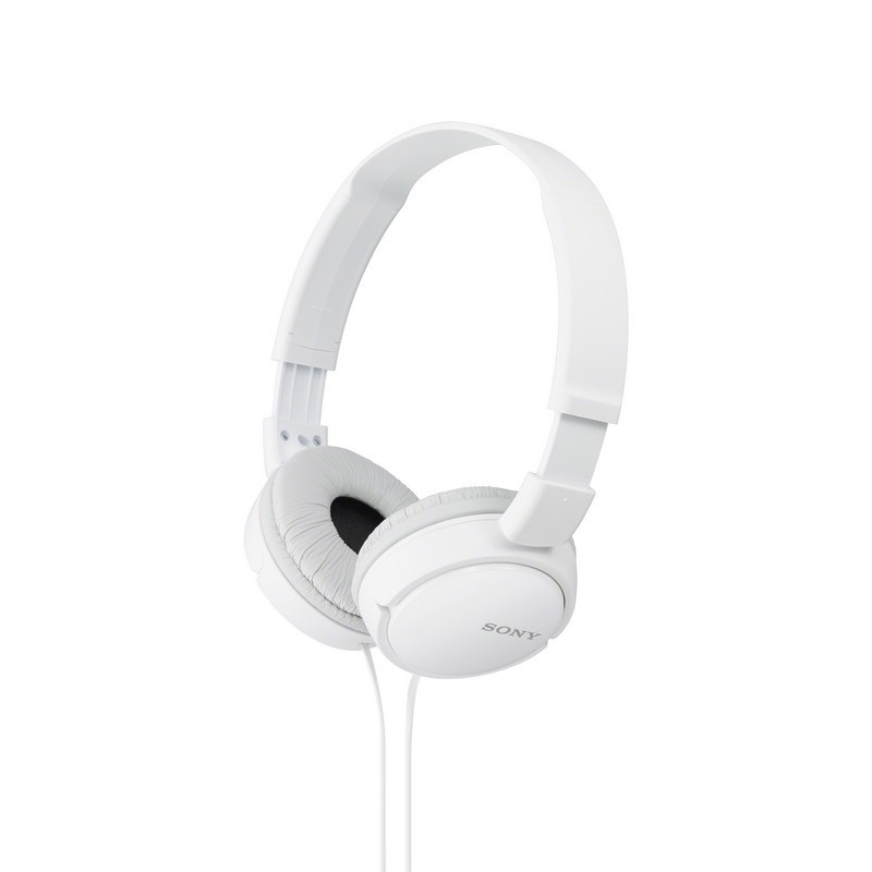 Sony MDR-ZX110AP/W On-Ear Headphones for iPhone and Android With In-Line Remote and Microphone Foldable 30mm 98dB 24ohms 12-22000Hz 1.2m 120g Y-Cord White Singapore