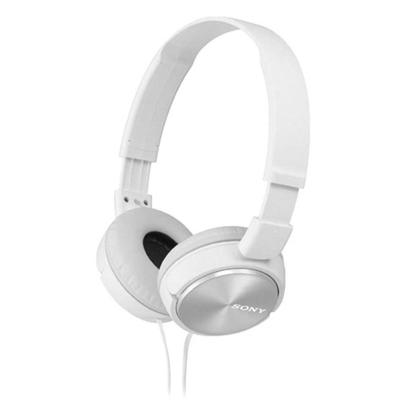 Sony MDR-ZX310/W Headphones On-Ear Sound Monitoring Foldable 30mm 98dB 24Ohms 10-24000Hz 1.2M 125g Y-Cord White Singapore