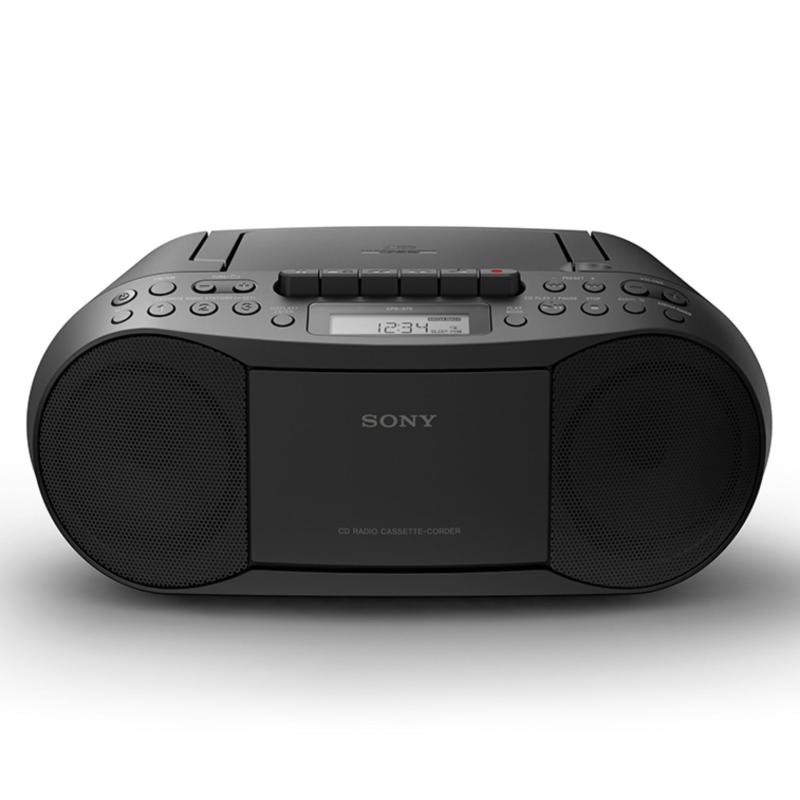 Sony Singapore CFD-S70 Cassette Tape and CD Player with Radio (Black) Singapore