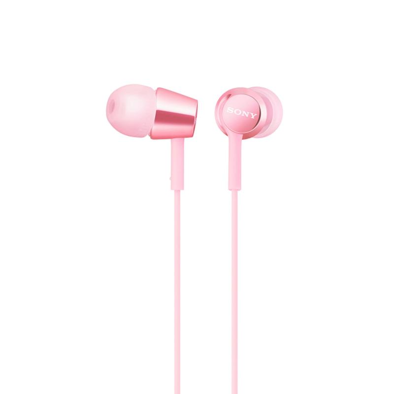 Sony Singapore MDR-EX155AP In-Ear Headphones (Pink) Singapore