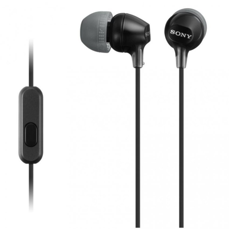 Sony Singapore MDR-EX15AP In-Ear Headphone with mic (Black) Singapore