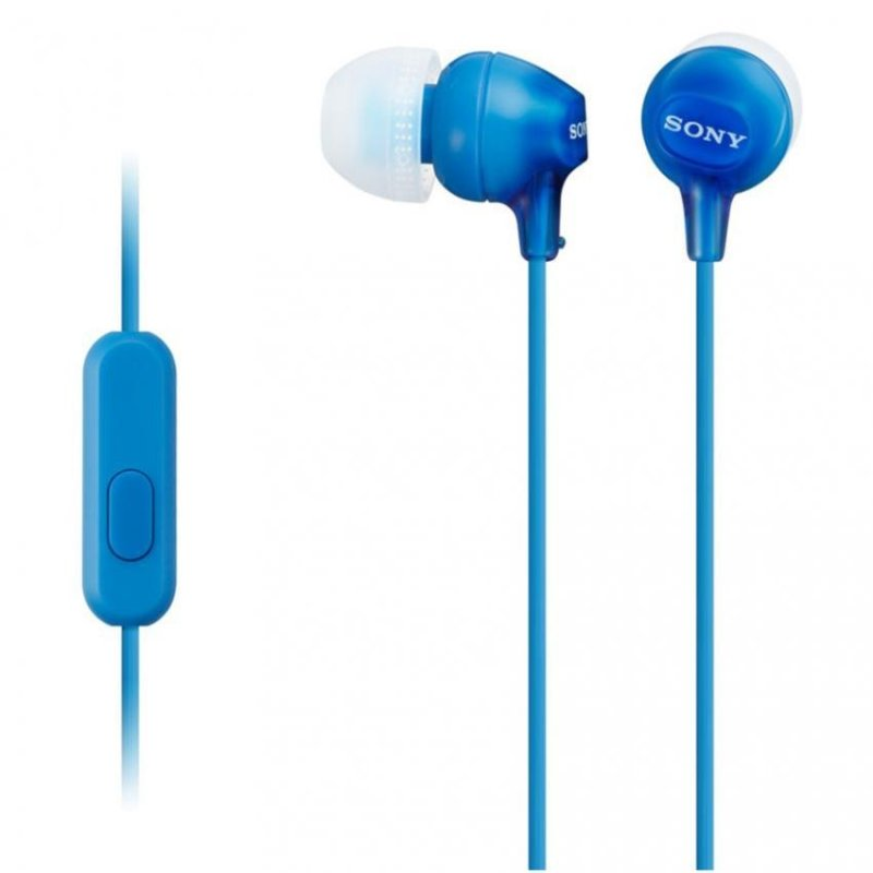 Sony Singapore MDR-EX15AP In-Ear Headphone with mic (Blue) Singapore