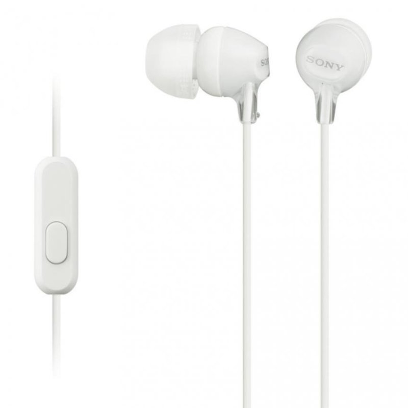 Sony Singapore MDR-EX15AP In-Ear Headphone with mic (White) Singapore