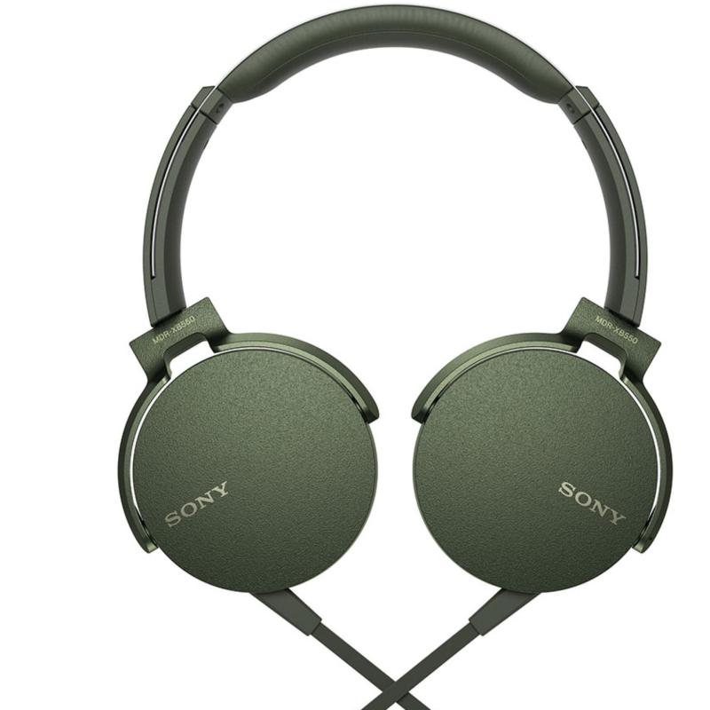 Sony Singapore MDR-XB550AP Extra Bass Headphone (Green) Singapore