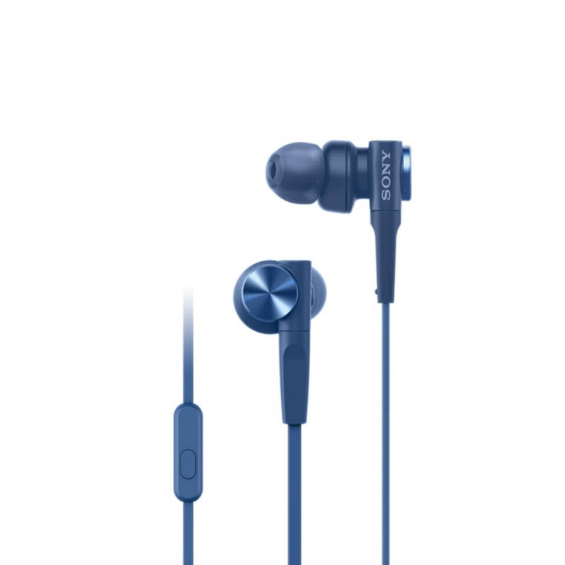 Sony Singapore MDR-XB55AP EXTRA BASS In-Ear Headphones (Blue) Singapore