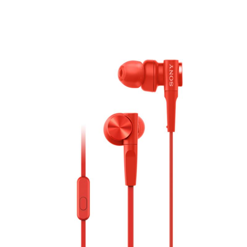 Sony Singapore MDR-XB55AP EXTRA BASS In-Ear Headphones (Red) Singapore