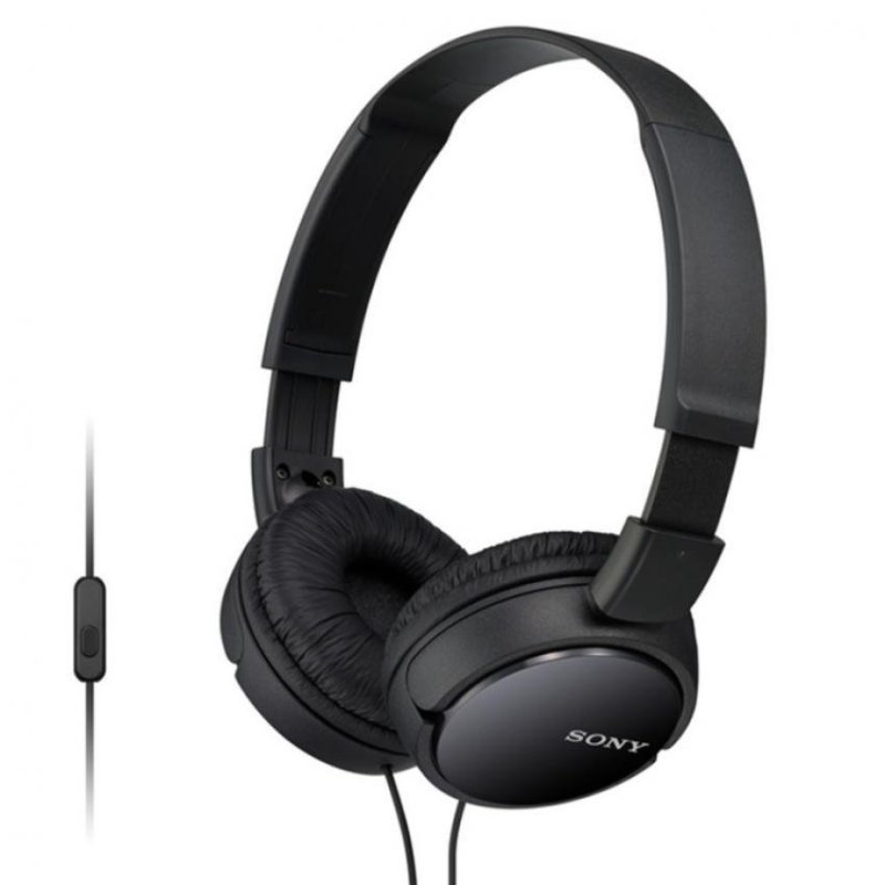 Sony Singapore MDR-ZX110AP On-ear Headphone with Mic (Black) Singapore