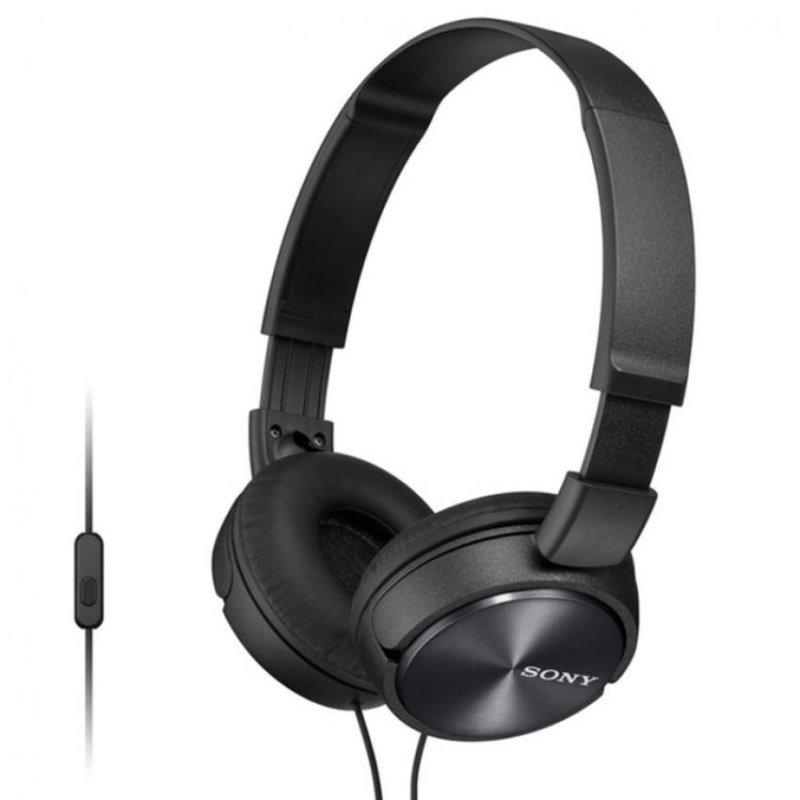Sony Singapore MDR-ZX310AP On-ear Headphone with Mic (Black) Singapore