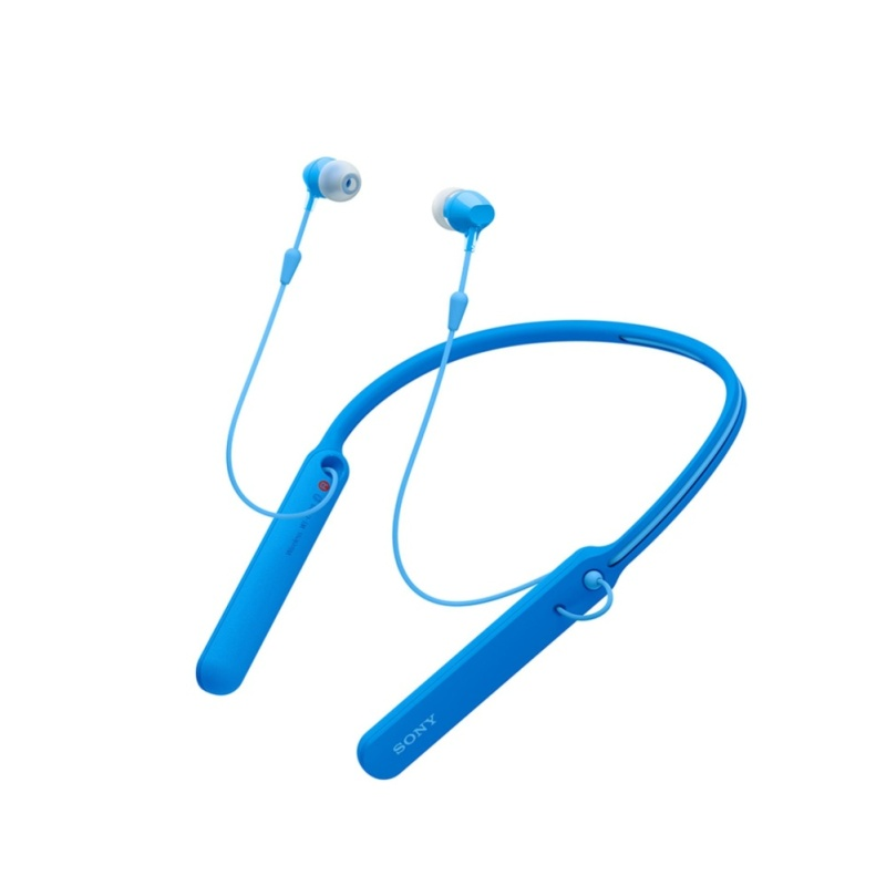 Sony Singapore WI-C400 Wireless Neckstyle In-Ear Headphones (Blue) Singapore
