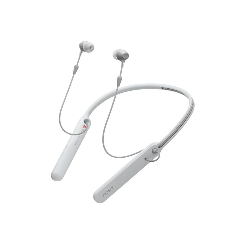 Sony Singapore WI-C400 Wireless Neckstyle In-Ear Headphones (White) Singapore