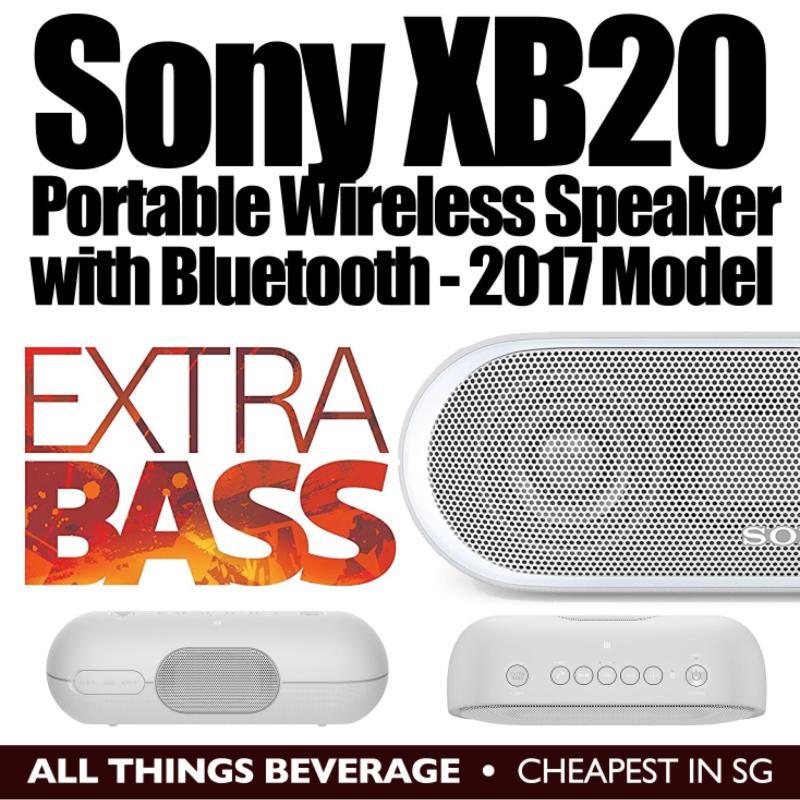 Sony XB20 Portable Wireless Speaker with Bluetooth, GREY (2017 model) Lowest Price Singapore