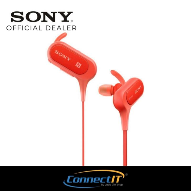 Sony XB50BS Wireless Bluetooth Sports Earphones (Red) Singapore