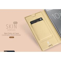 Price 1X Sony Xperia Xz Premium Dux Ducis Skin Series Flip Case Gold On Singapore