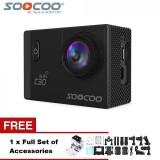 Cheap Soocoo Official C30 Wifi 4K Waterproof Action Sport Camera Black