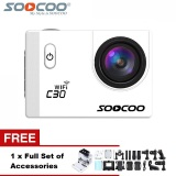 Sales Price Soocoo Official C30 Wifi 4K Waterproof Action Sport Camera White
