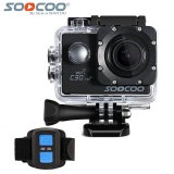 Soocoo Official C30R Sports Camera Wifi 4K Gyro Adjustable Viewing Angles 70 170 Degrees Ntk96660 With Remote Control Soocoo Discount