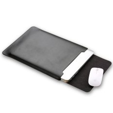 Soyan Microfiber Pu Leather Sleeve Pouch With Mouse Pad For 13 Inch Macbook Air Pro Black Intl Coupon