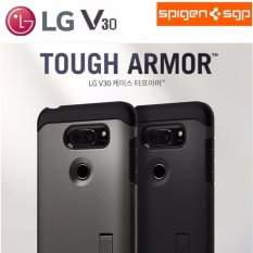 How To Get Spigen Lg V30 Premium Case Tough Armor Black 100 Original Intl