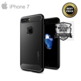 Latest Spigen® Rugged Armor Military Grade Back Cover Case For Iphone 7 Best Price Intl