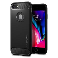 Sale Spigen Rugged Armor Series Case For Iphone 8 Iphone 7 Black