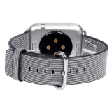Great Deal Sports Woven Nylon Silicone Bracelet Strap Band For Apple Watch 42Mm Wh Intl