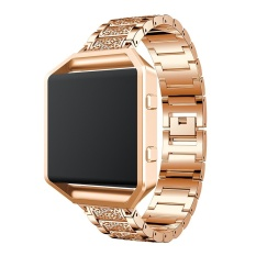 Stainless Steel Metal Replacement Strap Wrist With Rhinestone Band For Blaze Smart Fitness Watch Intl Online
