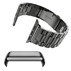 Compare Stainless Steel Replacement Watch Band Strap Accessories Set Pc Plating Anti Scratch Screen Protector Shell With Bumper For Apple Watch Iwatch Series 2 42Mm Black Intl