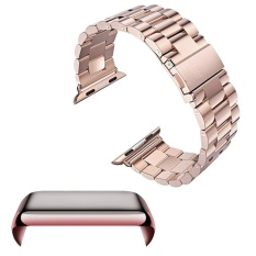 Sale Stainless Steel Replacement Watch Band Strap Accessories Set Pc Plating Anti Scratch Screen Protector Shell With Bumper For Apple Watch Iwatch Series 2 42Mm Rose Gold Intl Online Hong Kong Sar China