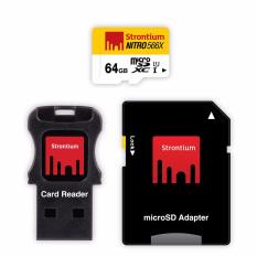 Strontium Nitro 64Gb Class 10 Microsd 3 In 1 Bundle Singapore