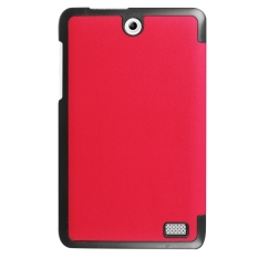 For Sale Sunsky Leather Custer Texture Horizontal Solid Color With Three Folding Holder Flip Case For Acer Iconia One 8 B1 850 Red Intl