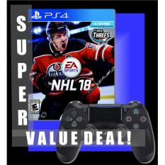Super Value Deal Sony Ps4 Nhl 18 Ps4 Black Controller Dual Pack Games Playstation Console Sony Discount