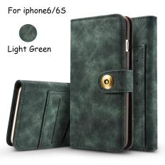 Superior Quality Flip Genuine Leather Case With Multi Functional Wallet Case Removable Back Phone Cover For Apple Iphone 6 6S Intl For Sale