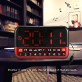 Price Sweatbuy Fm Radio Music Player Audio Speaker Led Display Support Alarm Clock Timed Shutdown Tf Card Usb Intl Oem New