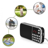Buy Sweatbuy Portable Digital Audio Music Player Speaker Led Flashlight Support Fm Radio Tf Card Usb Aux Intl Cheap China