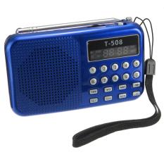 Discount T508 Mini Portable Led Stereo Fm Radio Speaker Usb Tf Card Mp3 Music Player Blue Export Intl Oem