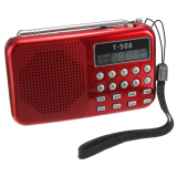 T508 Mini Portable Led Stereo Fm Radio Speaker Usb Tf Card Mp3 Music Player Red Best Price