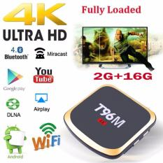 Best Rated T96M 4K 2Gb Rom 16Gb Ram Android 7 1 Smart Internet Tv Box