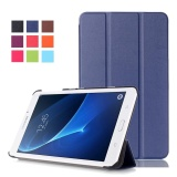 Best Rated Tab A 7 Case Stand Folio Leather Smart Cover For Samsung Tablet Galaxy Sm T280 T285 Dark Blue Intl