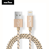 Review Take Fans 1 Meters Nylon Braided Lightning Cable For Iphone(Gold) Take Fans