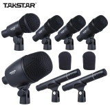 Takstar Dms 7As Professional Wired Microphone Mic Kit For Drum Set Musical Instruments With Standard Mounting Thread Carrying Case 1 Big Drum Microphone 4 Small Drum Microphones 2 Condenser Microphones Intl In Stock