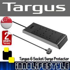 Targus APS1101AP-50 6 Socket Surge Protector with 2 USB Port
