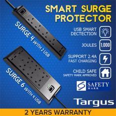 Targus Smart Surge 4 with 2 USB Ports (UK)