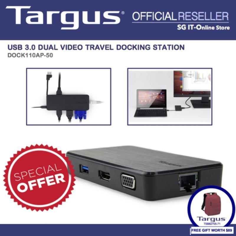 Targus USB 3.0 Dual Video Travel Docking Station (DOCK110AP-50)