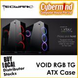 Recent Tecware Void Rgb Tempered Glass Atx Chassis With 4 Pre Installed Double Ring 12Cm Rgb Fans